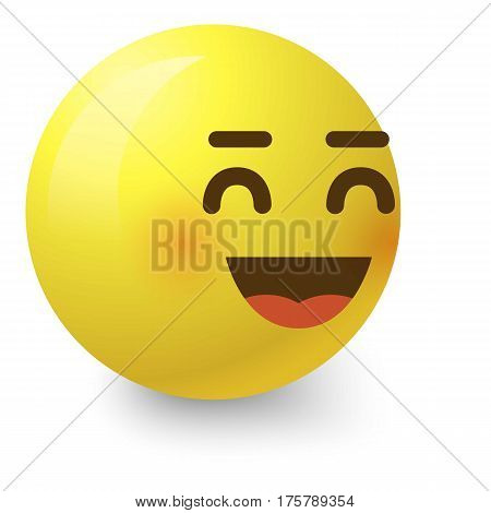 Cheerful smiley icon. Cartoon illustration of cheerful smiley vector icon for web