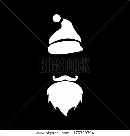 December santa icon. Simple illustration of december santa vector icon for web