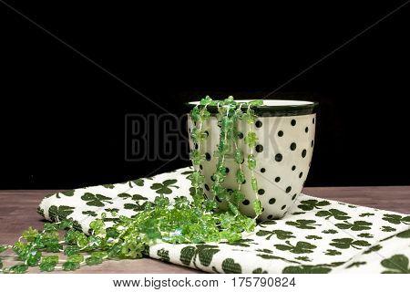 St. Patricks Day Themed Photo with Green Shamrocks