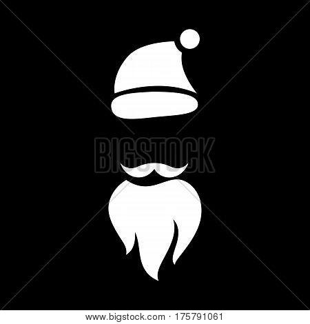 Magic santa icon. Simple illustration of magic santa vector icon for web