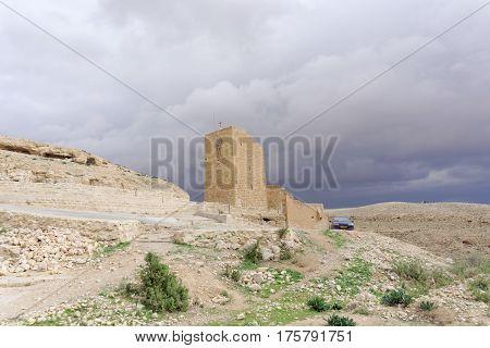 Bethlehem, Israel. - February 14.2017. Winter View In The Judean Desert Near The Lavra Of Savva The