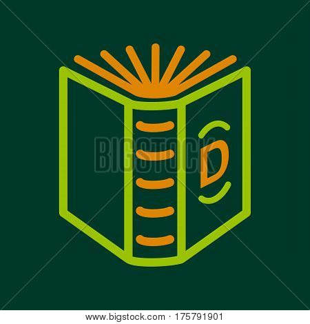 English book icon. Outline illustration of english book vector icon for web