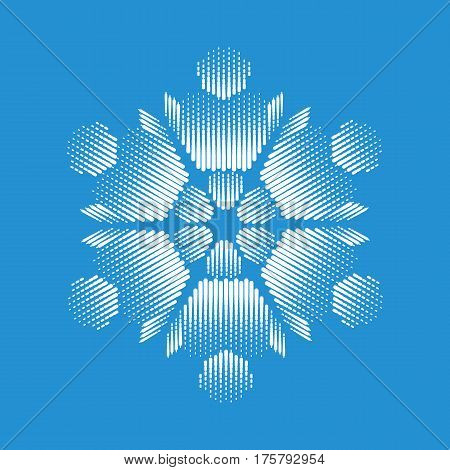 Nice snowflake icon. Simple illustration of nice snowflake vector icon for web