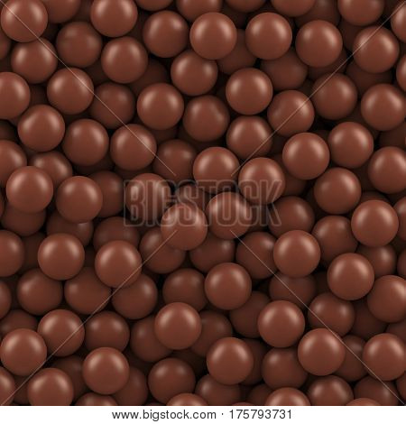 Chocolate balls background. Vector illustration Eps 10