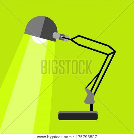 Long table lamp icon. Flat illustration of long table lamp vector icon for web