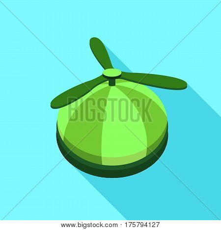 Propeller hat icon. Flat illustration of propeller hat vector icon for web