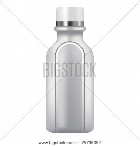 Plastic bottle icon. Realistic illustration of plastic bottle vector icon for web