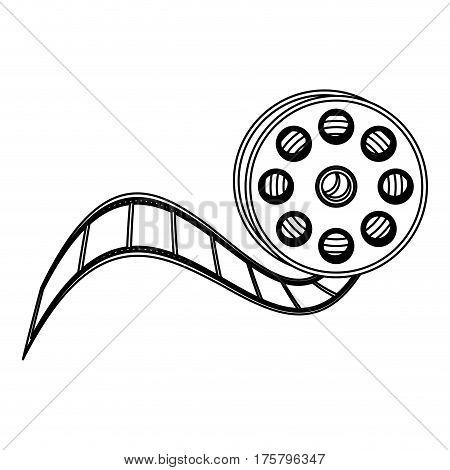 movie film clipart icon, vector illustraction design image