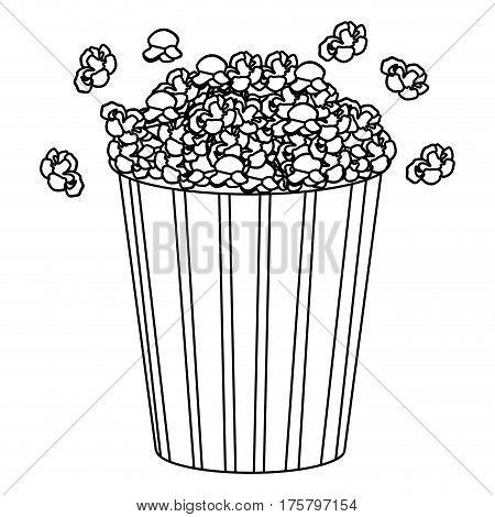 movie pop corn icon, vector illustraction design image
