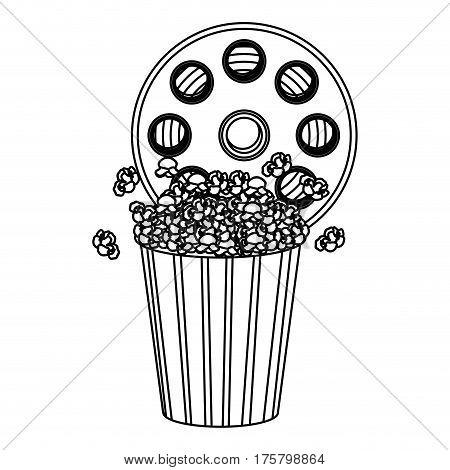 movie film clipart with pop corn icon, vector illustraction design