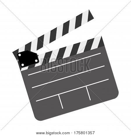 color clapper board film icon, vector illustraction design image