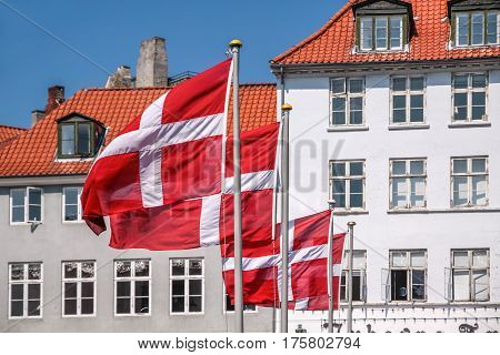 Waving Danish Flag