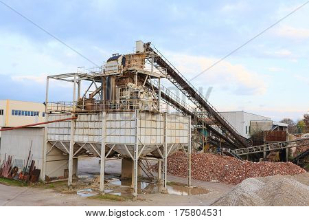 Stone Quarry With Silos
