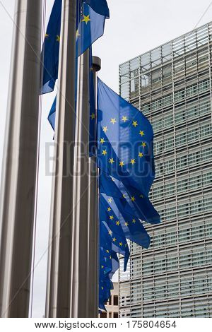 The Berlaymont is an office building that houses the headquarters of the European Commission which is the executive of the EU.
