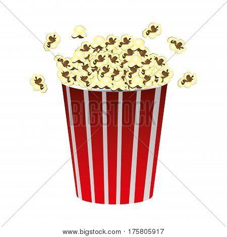 color movie pop corn icon, vector illustraction design image