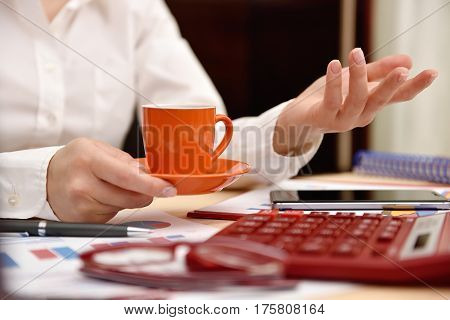 Woman Hand With Coffee Cup