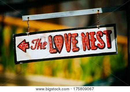 Beach summer time sign board direction for lovers