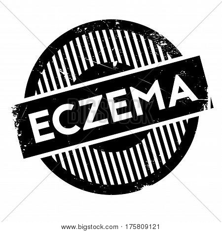Eczema rubber stamp. Grunge design with dust scratches. Effects can be easily removed for a clean, crisp look. Color is easily changed.