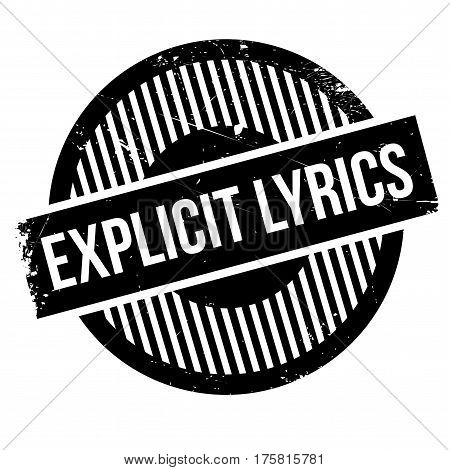 Explicit Lyrics rubber stamp. Grunge design with dust scratches. Effects can be easily removed for a clean, crisp look. Color is easily changed.