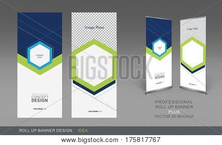 Professional Roll Up Concept Template for Business Purpose Place Your Products and Ready To GO For Print.
