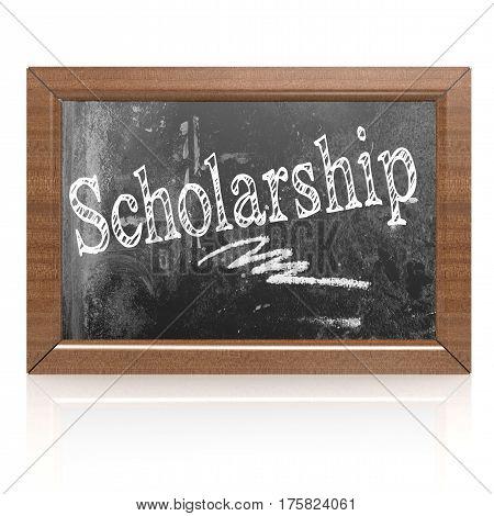 Scholarship Text Written On Blackboard