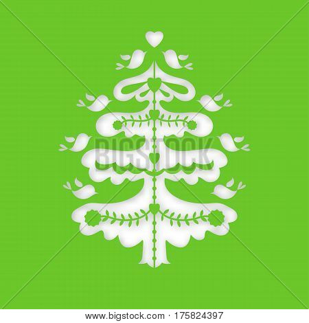 Christmas stencil tree. Laser cutting template for Happy New Year, Xmas. Cutting file. Silhouette holiday pattern. Die Cut vector. Cardmaking. EasyPrintPD Kirigami Scandinavian-style holiday for Noel