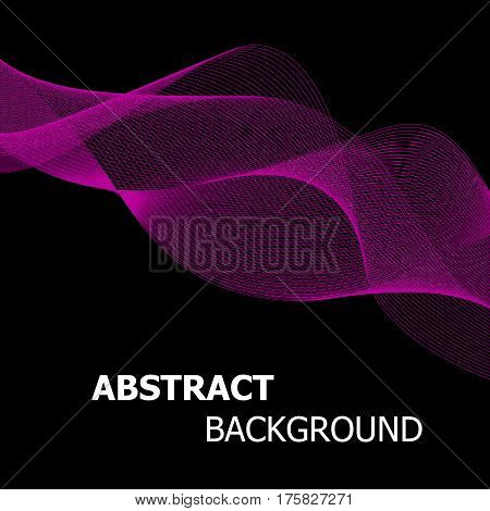 Abstract pink line wave background, stock vector