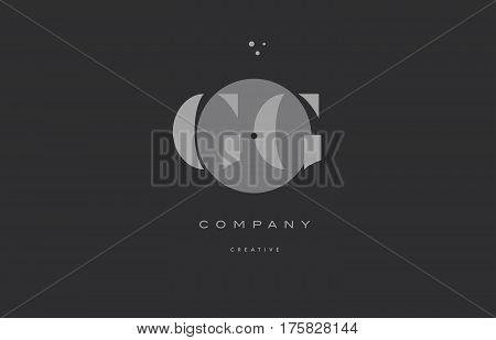 Gg G G  Grey Modern Alphabet Company Letter Logo Icon