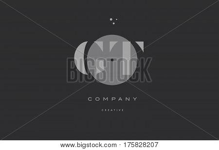 Gt G T  Grey Modern Alphabet Company Letter Logo Icon