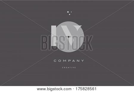 Iv I V  Grey Modern Alphabet Company Letter Logo Icon