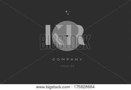 Kr K R  Grey Modern Alphabet Company Letter Logo Icon