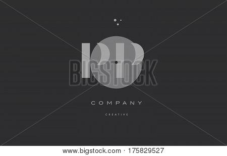 Pp P  Grey Modern Alphabet Company Letter Logo Icon