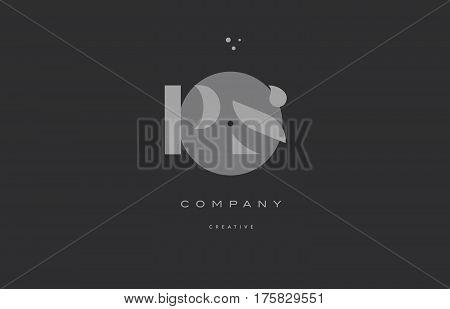 Ps P S  Grey Modern Alphabet Company Letter Logo Icon