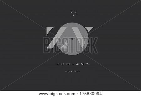 Zv Z V  Grey Modern Alphabet Company Letter Logo Icon