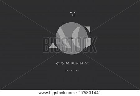 Ag A G  Grey Modern Alphabet Company Letter Logo Icon