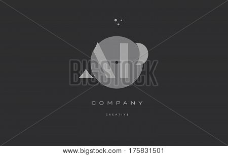 Ap A P  Grey Modern Alphabet Company Letter Logo Icon