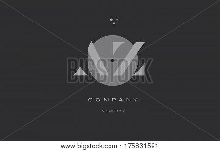 Az A Z  Grey Modern Alphabet Company Letter Logo Icon