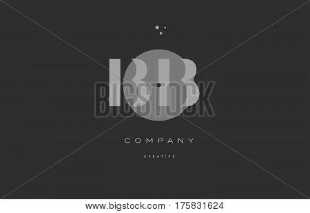 Bb B B  Grey Modern Alphabet Company Letter Logo Icon