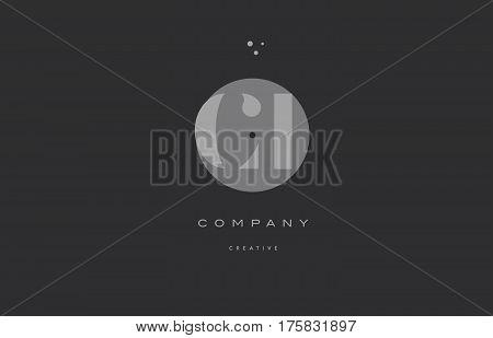 Ci C I  Grey Modern Alphabet Company Letter Logo Icon