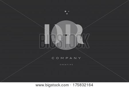Dr D R  Grey Modern Alphabet Company Letter Logo Icon