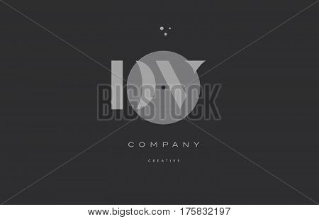Dv D V  Grey Modern Alphabet Company Letter Logo Icon