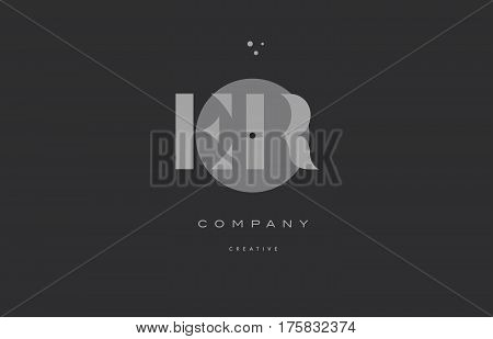 Er E R  Grey Modern Alphabet Company Letter Logo Icon