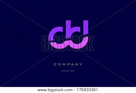 Dd D D  Pink Blue Alphabet Letter Logo Icon