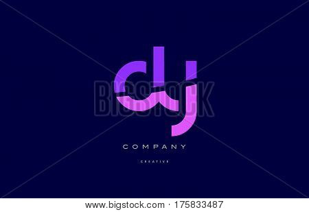 Dy D Y  Pink Blue Alphabet Letter Logo Icon