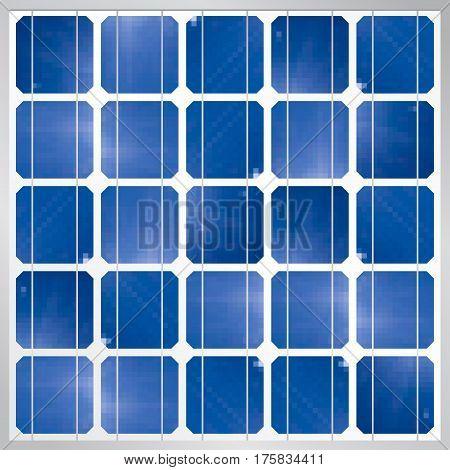 Photovoltaic solar panel module background - Renewable Energy - Size: 1200 x 1200 px - Vector image