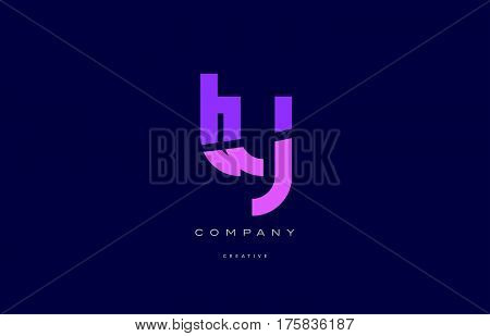 Ty T Y  Pink Blue Alphabet Letter Logo Icon