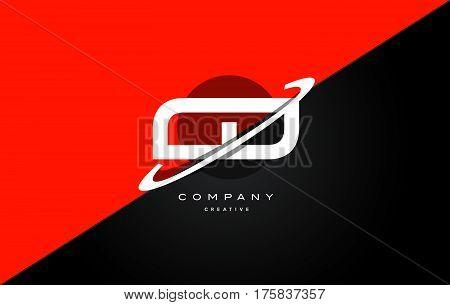 Cd C D  Red Black Technology Alphabet Company Letter Logo Icon