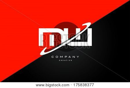Mw M W  Red Black Technology Alphabet Company Letter Logo Icon