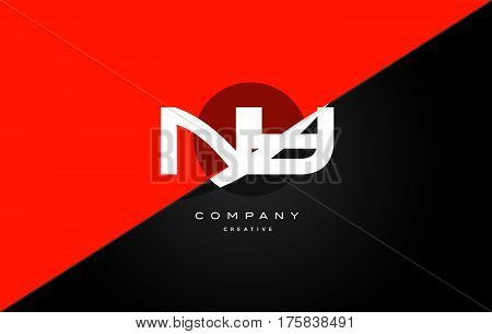 Nz N Z  Red Black Technology Alphabet Company Letter Logo Icon