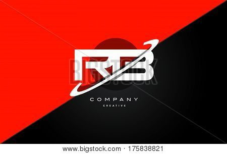 Rb R B  Red Black Technology Alphabet Company Letter Logo Icon